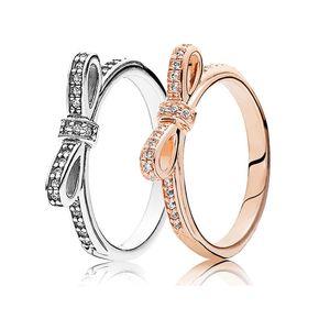 VRAI 925 STERLING ARGENT ROSE GOLD GOLD DAISY Bague Fleur pour Femmes Original 925 Argent Brand Cadeau de bijoux 515 B3