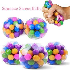 DHL Squeeze Stress Balles de stress pour enfants Fansteck Soulagement Ball de soulagement pour Squeteuse d'arc-en-ciel Squishy Senshy Sensory Ball Idéal pour l'anxiété d'autisme Plus