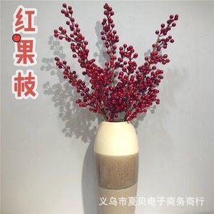 berry flower Simulation 16 red long joyful foam fruit branch