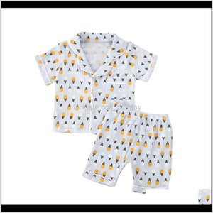 Baby Clothing Baby, Kids & Maternity1-6T Summer Toddler Girl Boy Cotton Linen Comfy Short Sleeve Tops Shorts Sets Pajamas Outfit Sleepwear1 D