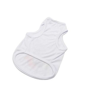 Sublimation Blank White Clothing DIY Pet Dog T Shirt for Small Pet Heat Transfer Print GGA4276