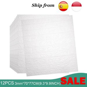 Wallpapers NATURCITY 3D Brick Wall Stickers Waterproof Foam Bedroom Kitchen Decor Sticker For Kids