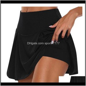 Outfits Exercise Fitness Wear Athletic Outdoor Apparel & Outdoors Drop Delivery 2021 Womens Skirts Run Yoga Inner Elastic Pockets Shorts Badm