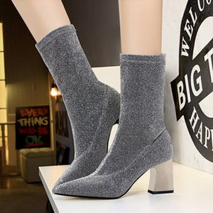 Women Boots Martin Desert Western Sexy club leather boots Bottom Chelsea Non-Slip Sheepskin Winter casual shoes Chunky Hida Dress Wedding Party