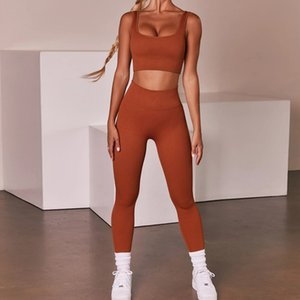 Womens fashion Designer Yoga Sportwear Tracksuits Fitness Bra Leggings Hollow two Piece Set outdoor outfits Sports Gymshark Athletic runner