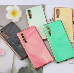 Gold inlaid jade marble electroplated phone cases in the form of suitcase For iPhone 11 11pro 11promax 12 12Pro 12proMax Xs 8 Plus