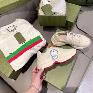 2021 New's Sneakers Co-branded Doraemon Daddy Shoe Leather Thick-soled Couple Casual Sports Shoes Trend Baby, Kids & Maternity G168