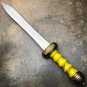 Gladius Roman sword fixed blade tactical knife gladiator medieval Renaissance knifes golden