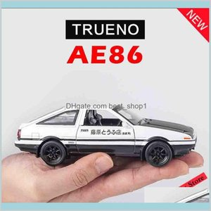 1:28 Initial D Ae86 Metal Alloy Diecasts Toy Vehicles Miniature Scale Model Car Toys For Children Lj200930 Gifts Dieca Venb5