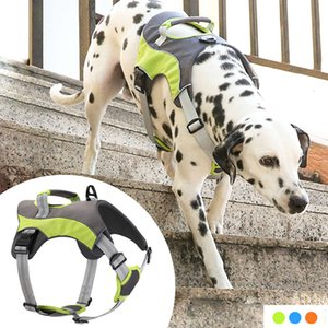 New Pet Harness Reflective Nylon Dog Padded Vest Adjustable Chest Strap Safety Lead All Weathers for Large Medium Small Dogs