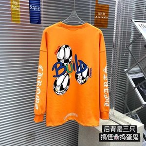Correct version of croxin counter cartoon troublemaker round neck sweater for men and women