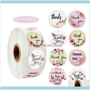 Adhesive Tapes Supplies Office School & Industrialfloral Thank You Stickers Seal Label Sticker Wedding Aessory Tag Glass Bottle Envelope Bus