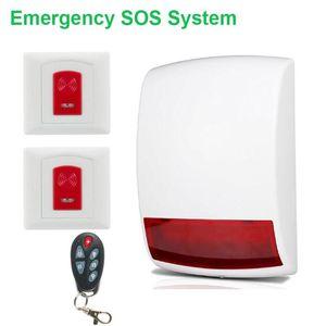 Wireless Emergency SOS Help System 110db Loud Siren+panic Button Alarm Systems