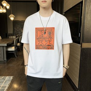 Luxury T-shirts Short Sleeve T-shirt 2021 Summer Korean Round Neck Printing T-shirt Trend Loose and Breathable Men's Wear