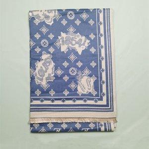 Designer autumn and winter fashion luxury men women thick warmth shawl scarf star flower letter pattern size about 180*65