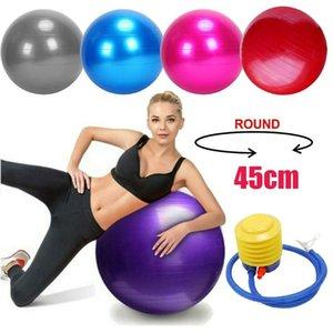 Sport Fitness Yoga Ball Ball PVC Smisse Anti-Explosion Exercice Gym Grossesse Bouche d'accueil Anti Burbst Core 45cm Accessoires