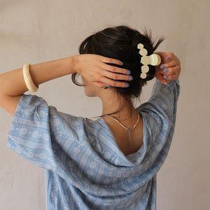 Hair Clips & Barrettes Geometry Round Hari Pin Solid Big Elegant Acrylic Hairpins Barrette Headwear For Women Girl Accessory