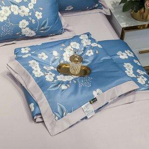 Battaniye Yeni Stil Yıkama Serin 4-piece 3 parçalı Klima Seti Yaz Yorgan İpek Pürüzsüz Cilt Uyuyabilir Nakestets