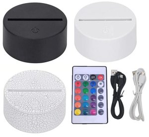 3in1 RGB LED Lamp Bases for 3D Illusion Night Light,Touch Switch Replacement Base 9D Table Desk Lamps