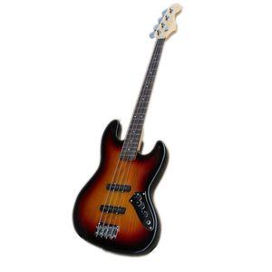 custom made 4 strings jb electric bass guitar,ASH sunburst body ,maple neck ,rosewood fingerboard,chrome buttons
