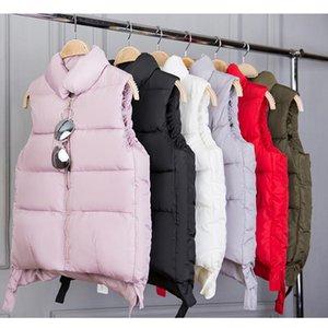 Autumn Winter Women Short Cotton Vest Female Solid Sleeveless Coats L2011001 Women's Vests
