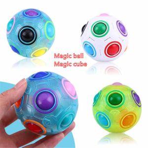 DHL быстрая доставка волшебный шар радуги сферический волшебный шар анти стресса радуги головоломки шарики детские образовательные игрушки для детей
