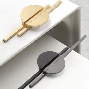Handles & Pulls Modern Simple Golden Gray Round Counter Cabinet Door Drawer Kitchen Cupboard Handle Furniture Hardware