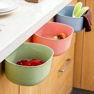 Plastic Basket Hanging Trash Can Waste Bin Garbage Storage Box Desktop Kitchen Holder Cabinet Door J0H9 Bottles & Jars
