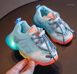 Kids led glowing light up tennis shoes for toddler baby boys girls flash luminous sneakers kids boys girls running sport shoes1