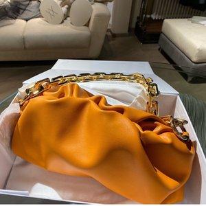 İtalyan Lüks Tasarım Yastık Çantası Zarif Sözleşmeli Yumuşak Kare Halka Zincir Omuz Kuşak Fuarı Maiden Armpit Paketi
