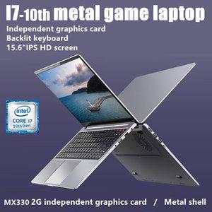 15.6-inch metal inter core i7-1065G7 10th MX330 2G GPU 32 64G ram 256G 2TB SSD fingerprint backlit win10 games laptop computer