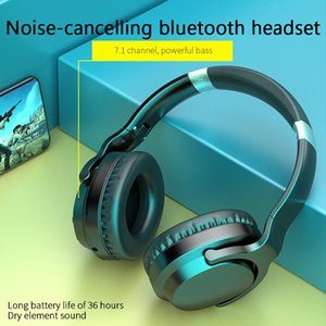 1pc H5 Bluetooth Headphones Active Noise Cancelling Subwoofer Wireless 5.0 Headset Comfortable And Reduction & Earphones