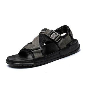 Sandalet Açık Sandalen 2021 Flip Man Couro Sandel Sandalia Sandale Terlik Plaj Herren Gladyatör Sandels Vietnam Heren Hombre
