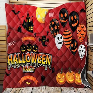 Comforters & Sets Scary Halloween Blanket Custom Plaid Horror Cartoon Anime Throw Blankets For Beds Quilt Gift Adult Decorat