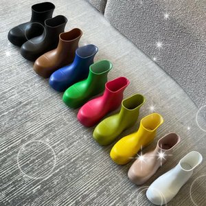 Fashion The latest Ankle boots women Designer Round Toes shoes Outdoor Booties womens shoe Thick bottomed Water lady proof Top Quality rain boot Size US 4-9