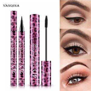 YANQINA Liquid Eyeliner Pencil+4D Waterproof Mascara Set Cosmetics Eyeliner Curling Mascara Eyebrow Pencil Eyes Makeup bea028
