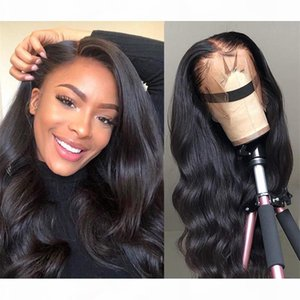 Brazilian Malaysian Virgin Hair Body Wave 360 Lace Wig Swiss Lace With Baby Hair Pre Plucked Natural Hairline 8~24 inches For Black Women