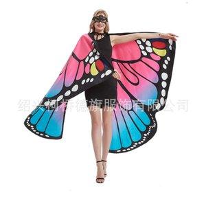 Shawl Butterfly Cape Gradient Shawl Adult Wings Decoração para Halloween
