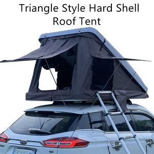 Палатка для крыши автомобиля, гидравлическая жесткая оболочка Универсальный треугольник наклонный наклонный брелья типа ветрозащитный дождь открытый дорожный путешествие мобильный дом