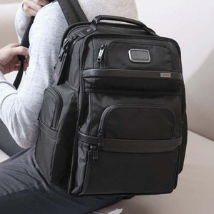 Tumi Tumin Alpha 3 Series Ballistic Nylon Men's Business Business BasePack حقيبة الكمبيوتر حقيبة الظهر