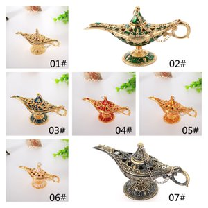 Other Home Decor Extra small Aladdin magic lamp metal high-end wishing lights hotel decoration 7 colors