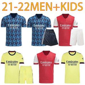 المشجعين الإصدار 424 Arsen Soccer Jersey 20 21 22 Gunners Odegaard Thomas Pepe Saka Tierney Henry Willian Smith Rowe 2021 2022 كرة القدم قميص كيد مجموعات موحدة