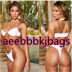 popular swimsuit Bikini suit girl chain printed hard bag high waist split bikini print sexy one piece yakuda flexible stylish Bikinis sets