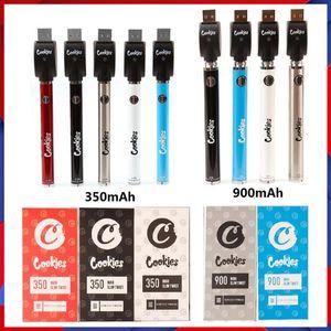 Çerezler Pil Vape Kalem USB Şarj Blister Kitleri 350 900 mAh Alt Spinner 3.3-4.8 V Önceden VV Kartuş Piller Ego 510 Için Konu Tankları Atomizer