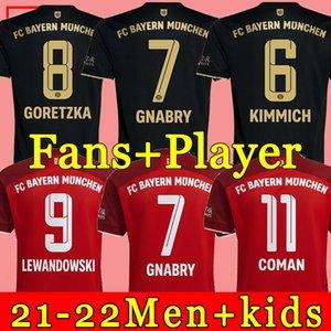 BaYern soccer jersey 21 22 LEWANDOWSKI SANE muNich KIMMICH COMAN MULLER DAVIES football shirt Men Kids sets kit 2021 top thailand quality uniform