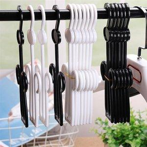 Allonger la chaussure Crochet Épaississement Chaussures Séchage Séchoir Pantoufles Cintre en plastique pour Home Supermarché Black Hooks Rails