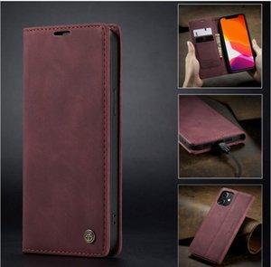 Osseuse de portefeuille de téléphone de luxe en cuir de luxe pour iPhone 11 12 PRO x XR XS Max Housse de dos pour Samsung Galaxy S20 10 S9 S8 S10 Huawei P30 P40