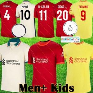21 22 LVP Liverpool soccer jerseys Mohamed SALAH ALEXANDER ARNOLD Mane Firmino VIRGIL DIOGO J Thiago A.BECKER LIV football shirt KEITA men kit 2021 2022 kids equipment