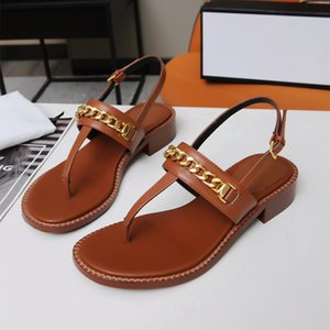 Sandal Femme 2021 Produit d'été Qualité haut de gamme 35-43 Cuir Clip Talon de 2,5 cm de hauteur