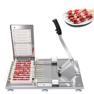 Máquina de kebab de carneiro manual Satay Skewer máquina de aço inoxidável de aço inoxidável kebab carne desgaste máquina de cordas